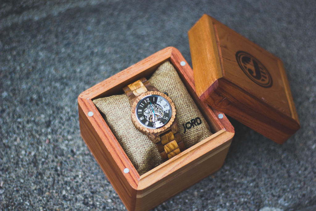 Olive & Acacia Wood Watch